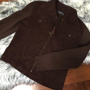 Norton Studio Brown Soft Shell Jacket With Design